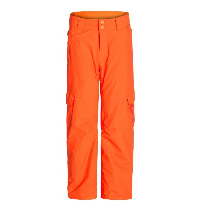 0 Boy's  Banshee K 15 Snow Pants Orange EDBTP00001 DC Shoes