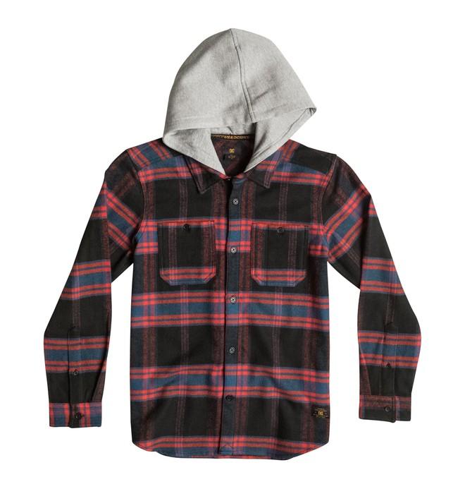 0 Hood Up - Long Sleeve Flannel Shirt  EDBWT03006 DC Shoes