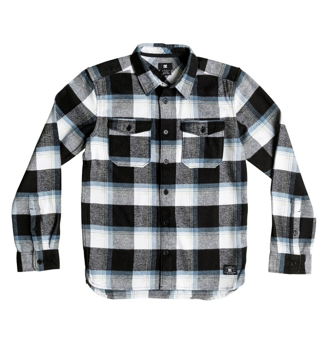 0 Marsha Flannel - Long Sleeve Shirt Black EDBWT03017 DC Shoes