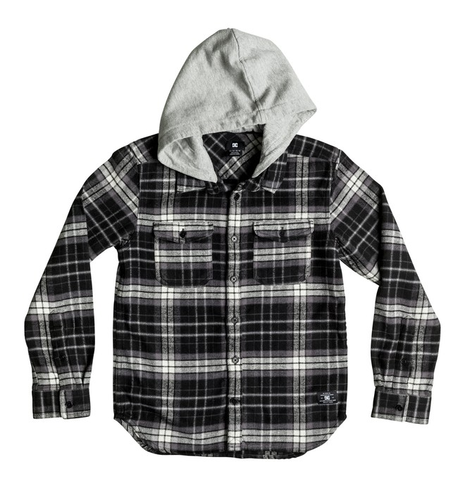 0 Runnels Flannel - Hooded Long Sleeve Shirt  EDBWT03018 DC Shoes