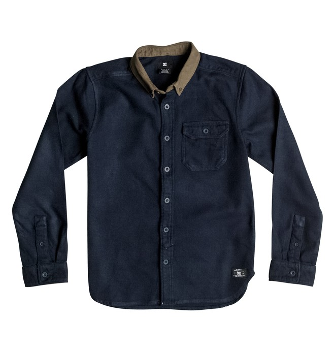 0 Wallingstone Flannel - Long Sleeve Shirt Blue EDBWT03019 DC Shoes