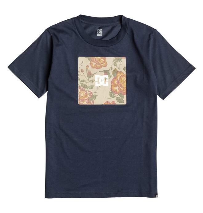 0 Nu Roses - T-Shirt Blue EDBZT03128 DC Shoes