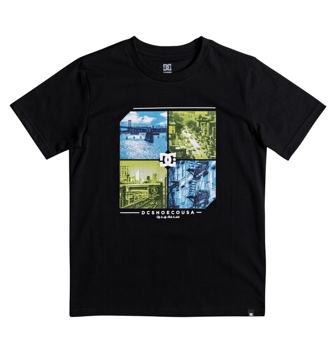 0 City To State - T Shirt col rond Noir EDBZT03265 DC Shoes