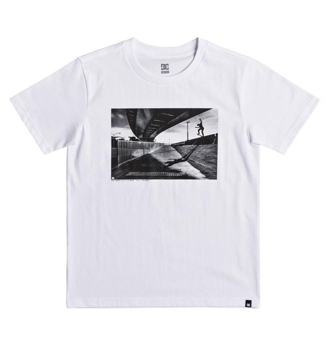0 Wes Switch Blunt - T Shirt col rond Blanc EDBZT03268 DC Shoes