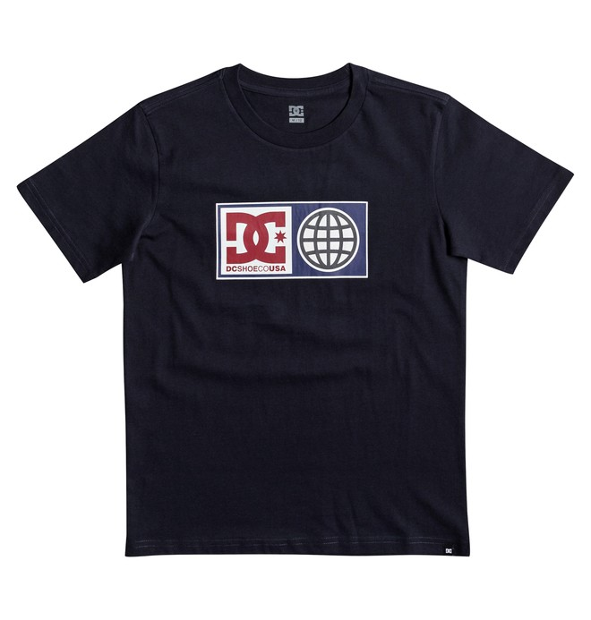 0 Global Salute - T Shirt col rond Bleu EDBZT03273 DC Shoes