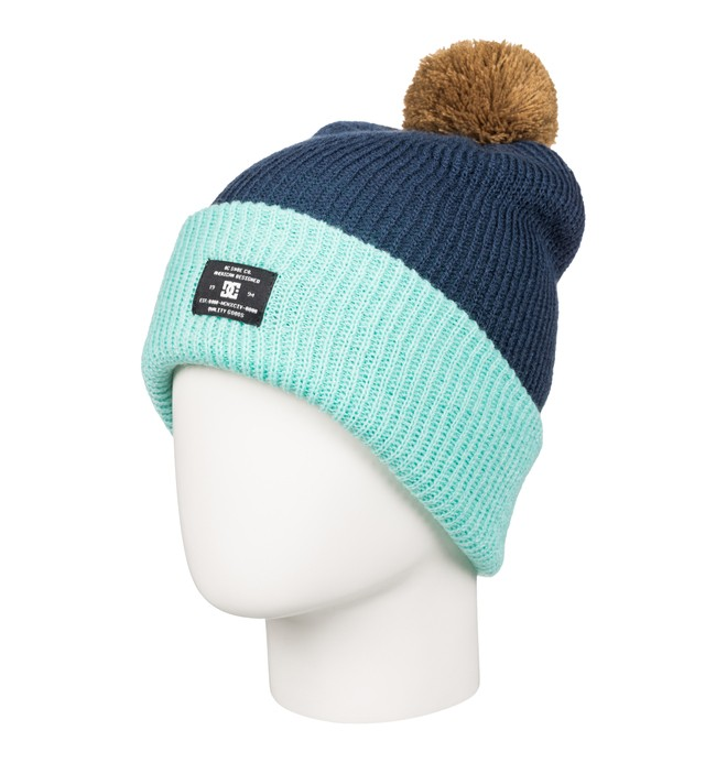 0 Trilogy - Bobble Hat Blue EDJHA03018 DC Shoes