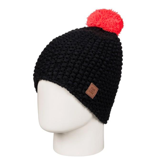 0 Leaf - Bobble Hat Black EDJHA03023 DC Shoes