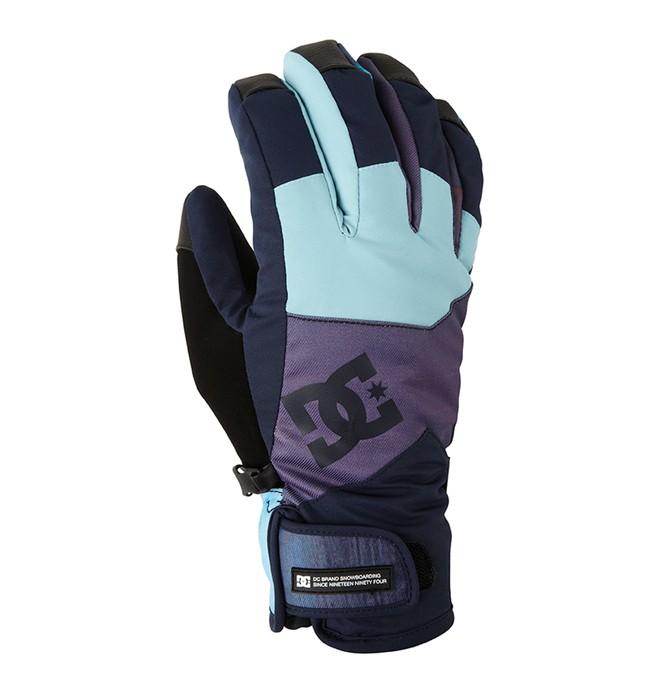 0 Women's Seger Snowboard Gloves Blue EDJHN00004 DC Shoes