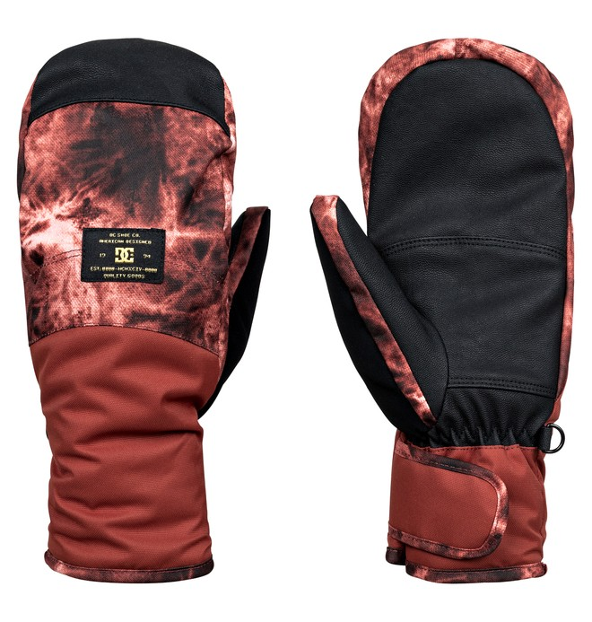0 Women's Franchise Snow Mittens Red EDJHN03009 DC Shoes