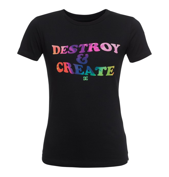 0 Destroy Create - T-Shirt Schwarz EDJZT03087 DC Shoes