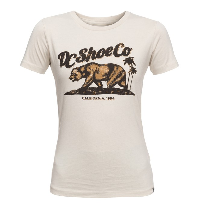 0 Bear And Palms - T Shirt col rond Gris EDJZT03088 DC Shoes