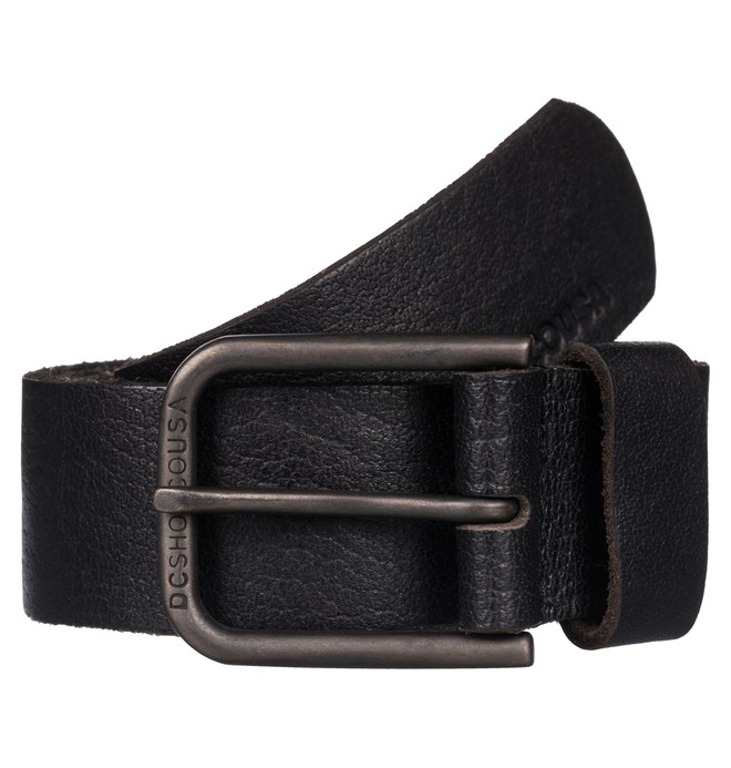 0 Archery - Leather Belt Black EDYAA03051 DC Shoes