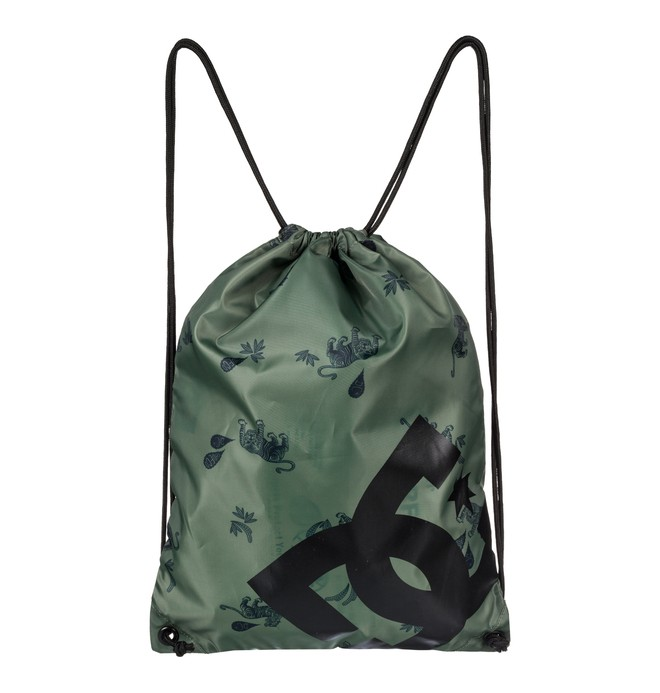 0 Men's Cinched Drawstring Backpack Green EDYBA03028 DC Shoes
