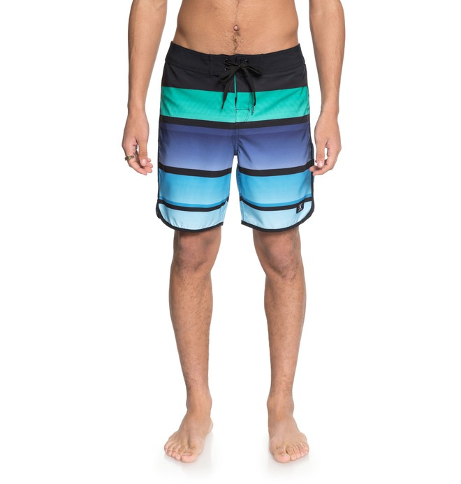 "0 Men's No Lies Scallop 18"" Boardshorts Black EDYBS03072 DC Shoes"
