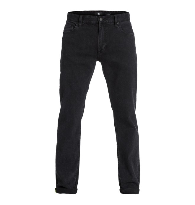 "0 Men's Worker Straight Washed 32"" Inseam Jeans Black EDYDP03023 DC Shoes"