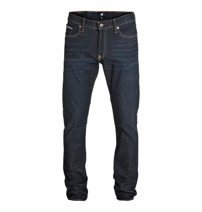 "0 Wkr Slim Dark Stone Wash 34"" Inseam Jeans  EDYDP03091 DC Shoes"