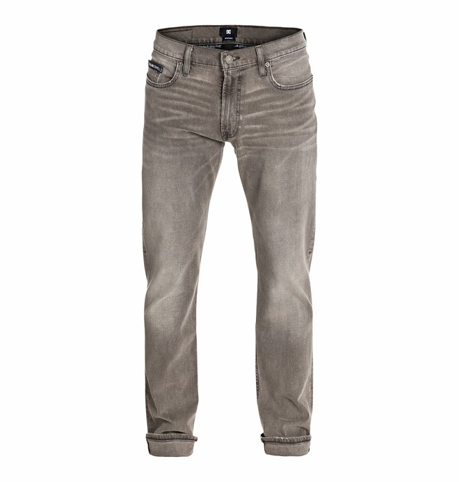 """0 Wkr Straight Grey Stone Wash 34"""" Inseam Jeans  EDYDP03097 DC Shoes"""