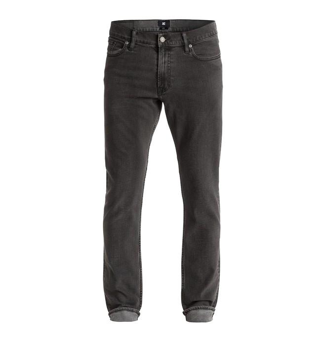 "0 Men's Washed Slim Fit Grey On Grey 32"" Jeans  EDYDP03150 DC Shoes"