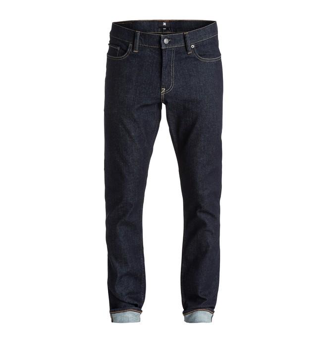 "0 Men's Worker Slim Fit Indigo Rinse 32"" Jeans  EDYDP03176 DC Shoes"