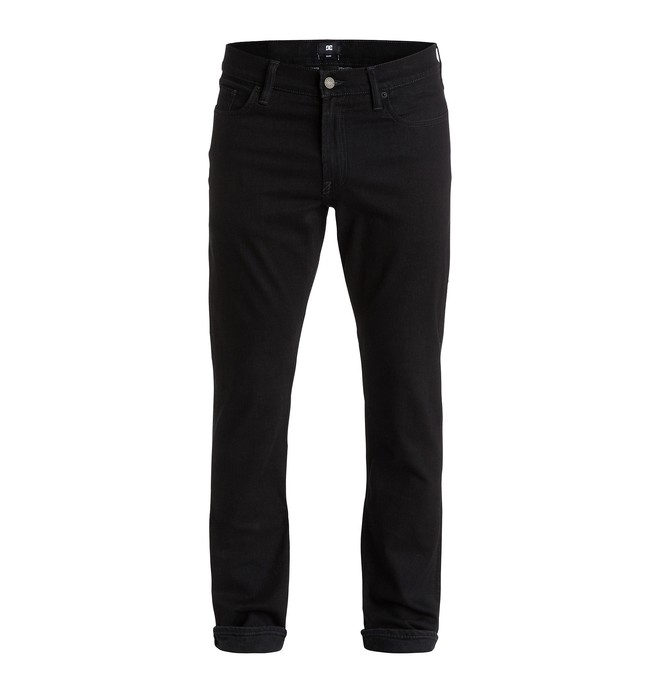 "0 Men's Worker Slim Fit Black Rinse 32"" Jeans  EDYDP03178 DC Shoes"
