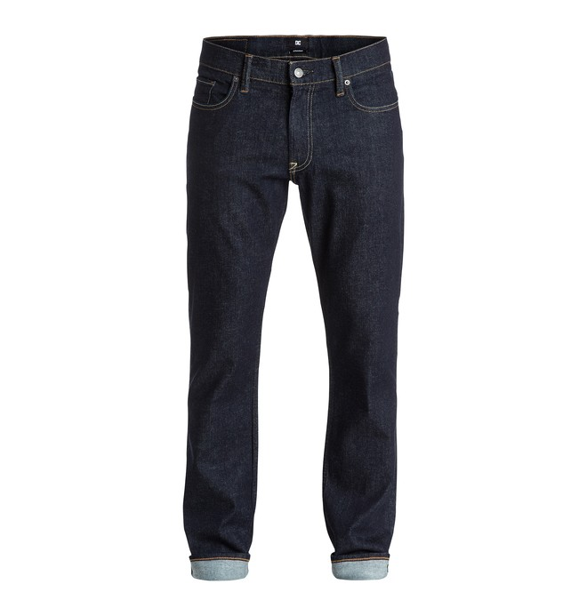 """0 Men's Worker Straight Fit Indigo Rinse 32"""" Jeans  EDYDP03180 DC Shoes"""