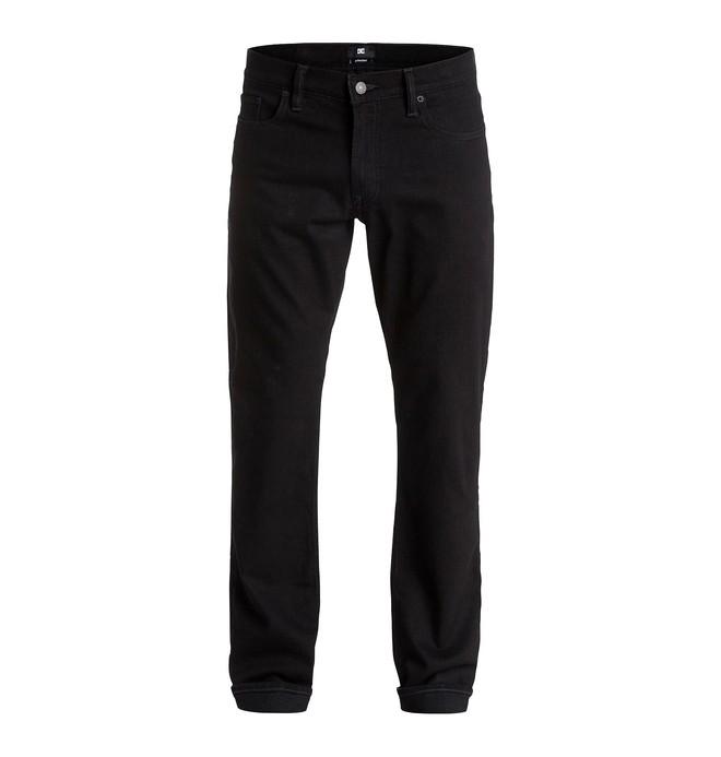 "0 Men's Worker Straight Fit Black Rinse 32"" Jeans  EDYDP03182 DC Shoes"