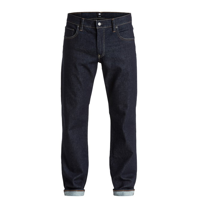 """0 Men's Worker Roomy Fit Indigo Rinse 32"""" Jeans  EDYDP03184 DC Shoes"""