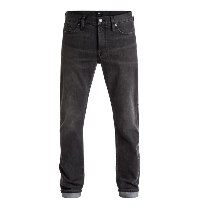 """0 Men's Washed Straight Fit 32"""" Jeans  EDYDP03206 DC Shoes"""