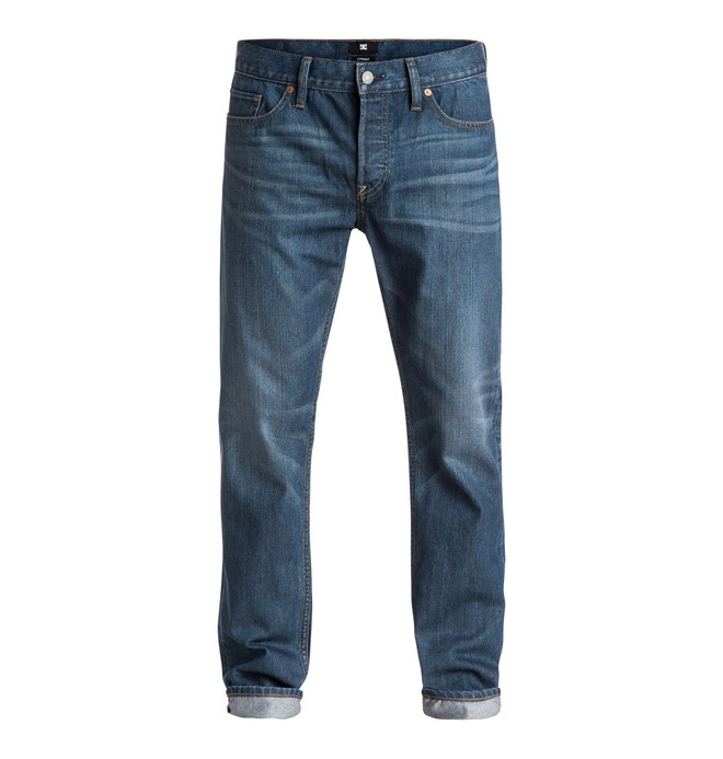 """0 Men's Washed 32"""" Straight Fit Jeans  EDYDP03208 DC Shoes"""