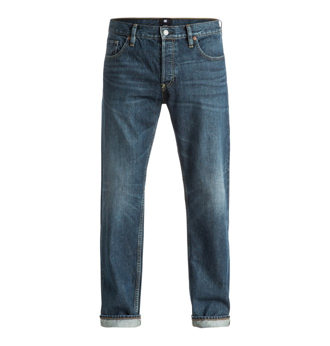 0 Men's Washed Medium Stone Rigid Roomy Fit Jeans  EDYDP03242 DC Shoes