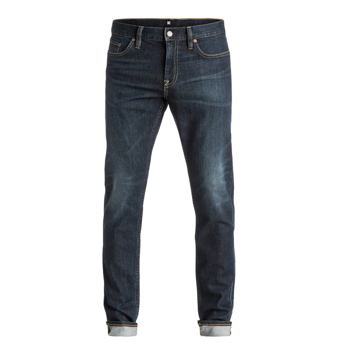 0 Washed Dark Stone - Slim Fit Jeans Blue EDYDP03250 DC Shoes
