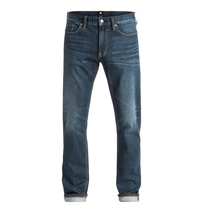 0 Washed Medi Stone - Straight Fit Jeans Blue EDYDP03262 DC Shoes
