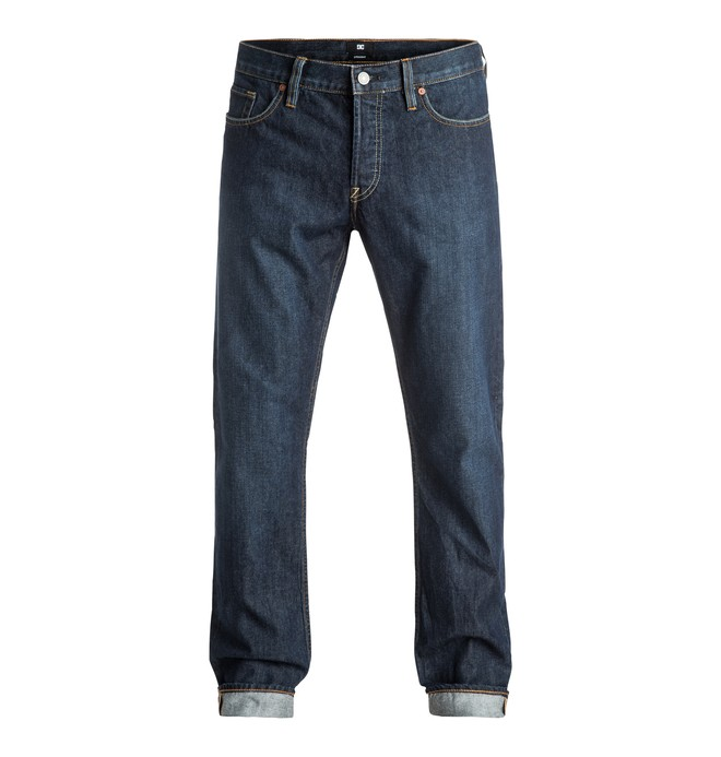 0 Worker Straight Stone Wash - Straight Fit Jeans Blue EDYDP03297 DC Shoes