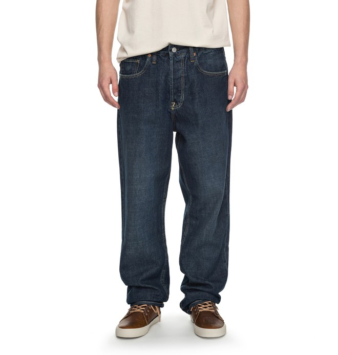 0 Worker Stone Wash Relaxed - Relaxed Fit Jeans Blau EDYDP03323 DC Shoes