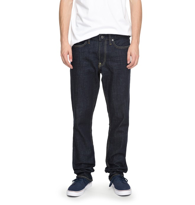 0 Worker Indigo Rinse Straight - Straight Fit Jeans Blue EDYDP03324 DC Shoes