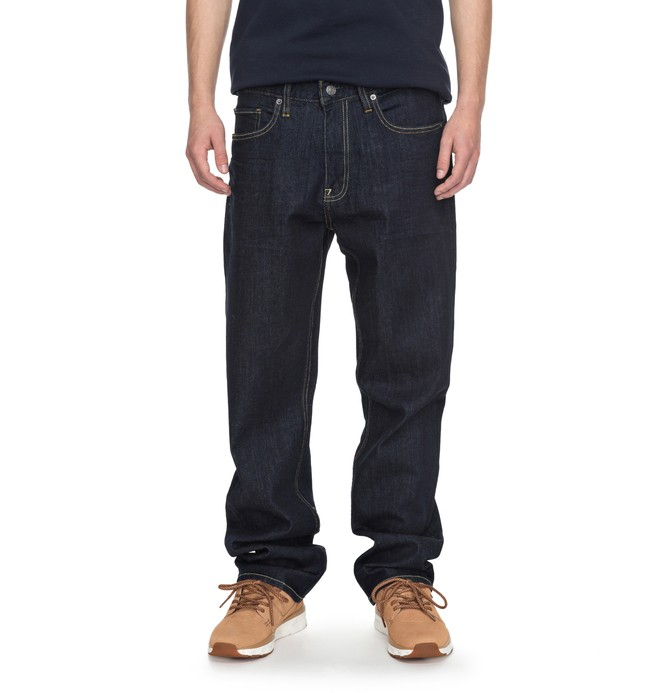 0 Men's Worker Indigo Rinse Relaxed Relaxed Fit Jeans Blue EDYDP03336 DC Shoes