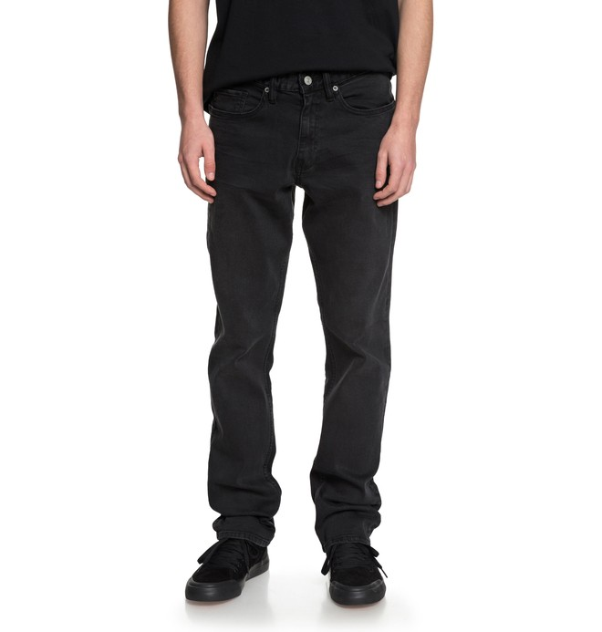 0 Прямые джинсы Worker Medium Grey Straight Черный EDYDP03341 DC Shoes