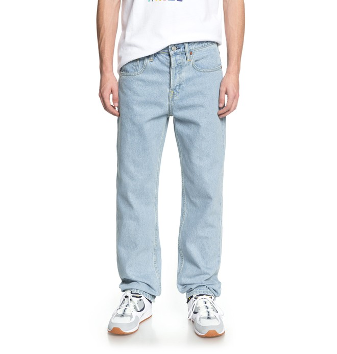 0 Men's Worker Relaxed Fit Jeans Blue EDYDP03355 DC Shoes