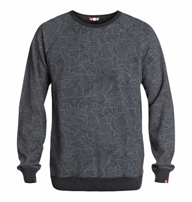 0 Men's Core Crew Print Sweatshirt  EDYFT03067 DC Shoes