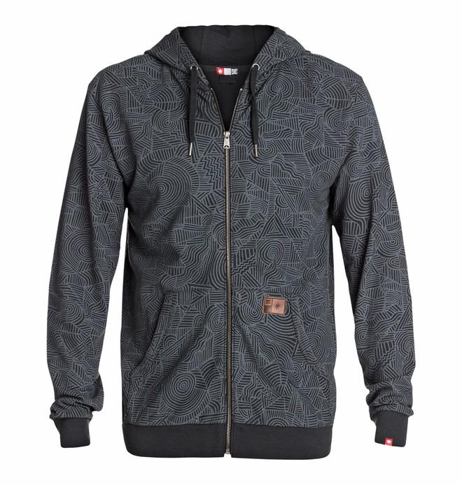 0 Men's Core Zip Print Sweatshirt  EDYFT03071 DC Shoes