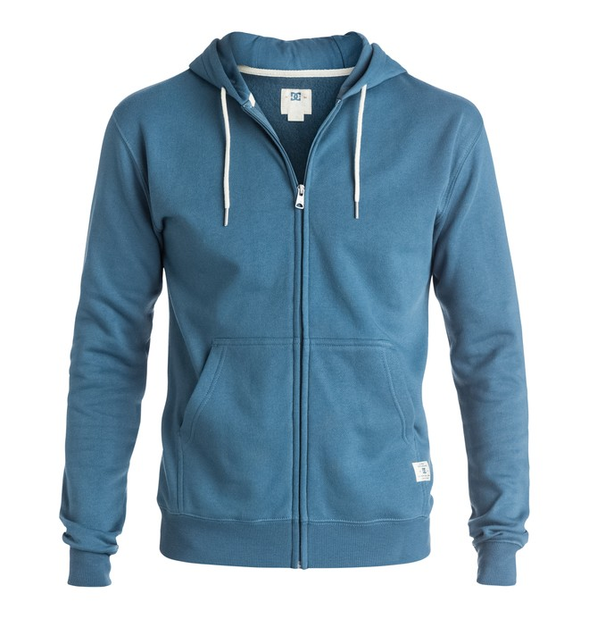 0 Rebel - Zip-Up Hoodie Blue EDYFT03096 DC Shoes