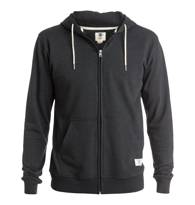 0 Rebel - Zip-Up Hoodie Black EDYFT03096 DC Shoes