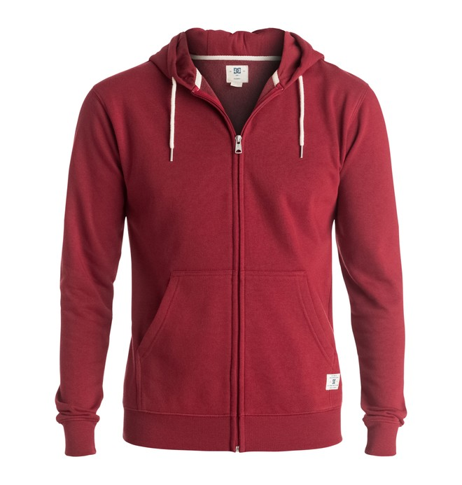 0 Rebel - Zip-Up Hoodie Red EDYFT03096 DC Shoes