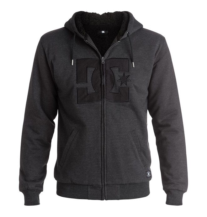 0 Men's Star Sherpa Zip Up Hoodie  EDYFT03236 DC Shoes