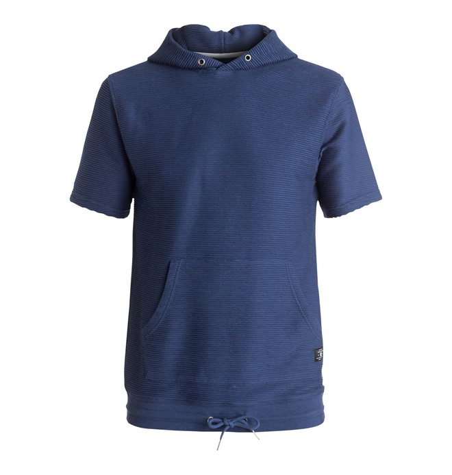 0 Crawfords Ville - Short Sleeve Hoodie Blue EDYFT03257 DC Shoes