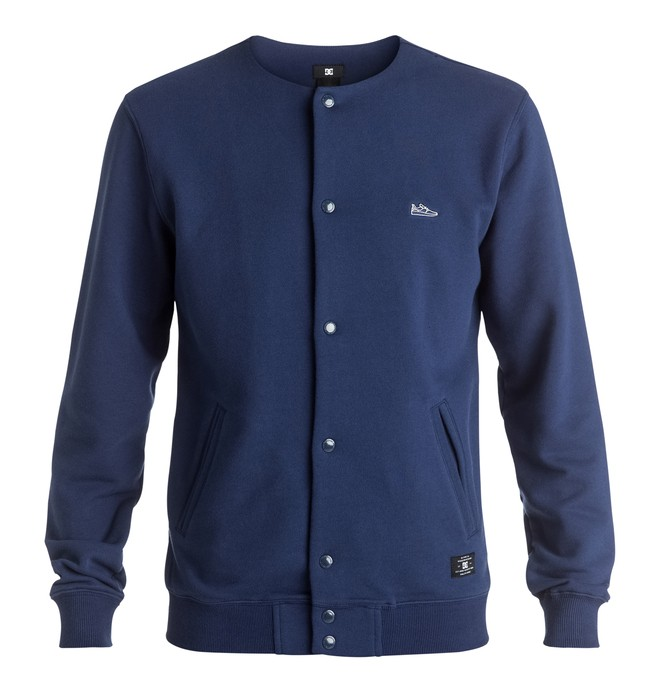 0 Hamby - Varsity Button Front Sweatshirt Blue EDYFT03267 DC Shoes