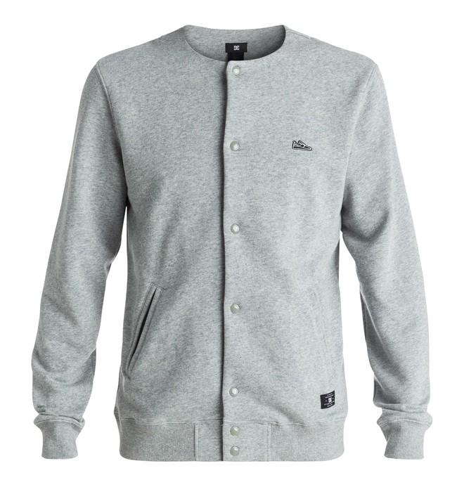 0 Hamby - Varsity Button Front Sweatshirt Black EDYFT03267 DC Shoes