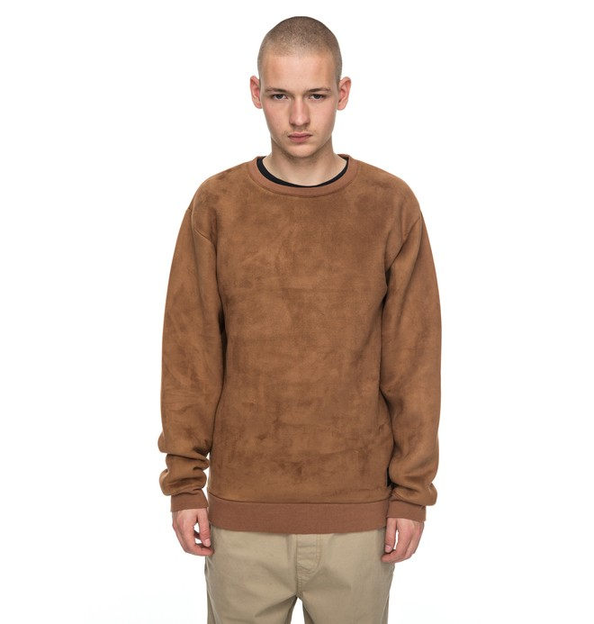 0 Atchison - Sweatshirt imitation suède Marron EDYFT03299 DC Shoes