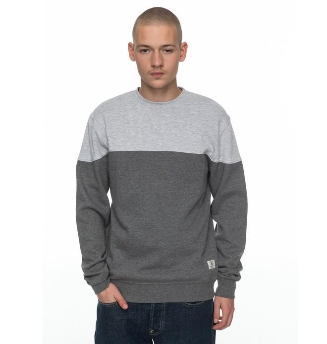 0 Men's Rebel Block Sweatshirt Black EDYFT03315 DC Shoes