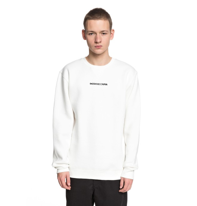 0 Men's Craigburn Sweatshirt White EDYFT03347 DC Shoes